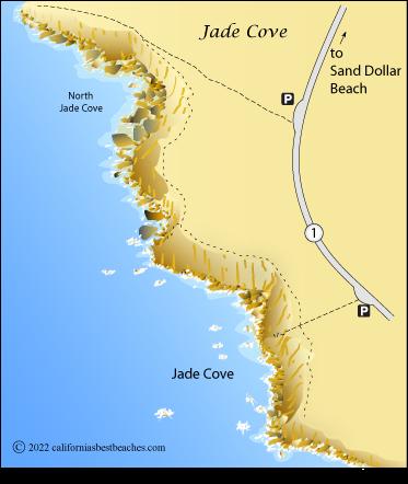 Jade Cove Map Sur Monterey County Ca