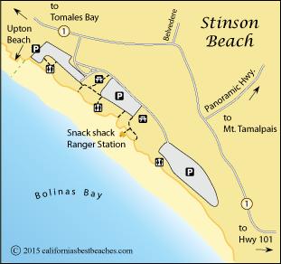 Map Of Stinson Beach Marin County Ca