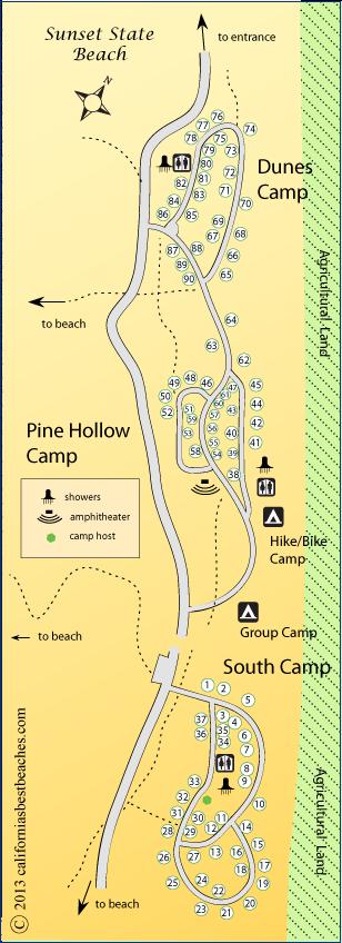 Sunset Beach Campgrounds Santa Cruz County Ca