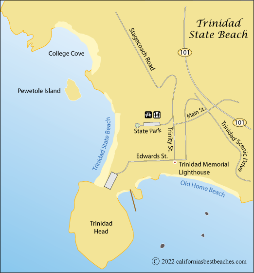Map Of Trindad State Beach Humboldt County Ca